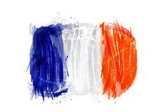 Flaggan av Frankrike gjorde med färgrika färgstänk Royaltyfri Foto