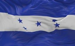 Flaggan av Honduras som vinkar i vinden 3d, framför Royaltyfria Bilder