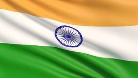 Flaggan av Indien royaltyfri illustrationer