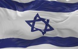 Flaggan av Izraelen som vinkar i vinden 3d, framför Royaltyfria Foton