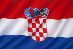 Flaggan av Kroatien - Europa Royaltyfri Bild