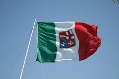 Flaggan av marinen Arkivbild