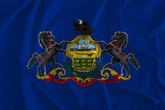 Flaggan av Pennsylvania bakgrund, slutstentillståndet, Quaker påstår vektor illustrationer