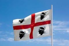 Flaggan av Sardinia - labandierasarda Royaltyfria Bilder