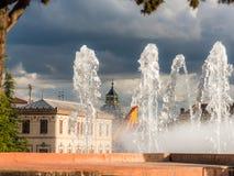 Flaggan av Spanien 1 royaltyfri fotografi