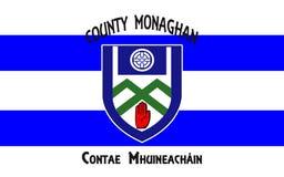 Flaggan av ståndsmässiga Monaghan är ett län i Irland royaltyfria foton