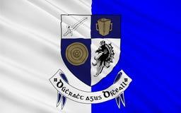 Flaggan av ståndsmässiga Monaghan är ett län i Irland arkivbilder