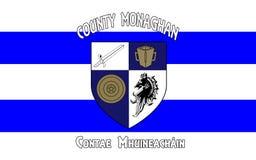 Flaggan av ståndsmässiga Monaghan är ett län i Irland royaltyfri fotografi