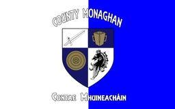 Flaggan av ståndsmässiga Monaghan är ett län i Irland arkivfoto