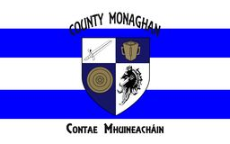 Flaggan av ståndsmässiga Monaghan är ett län i Irland royaltyfria bilder