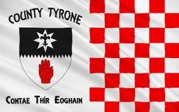 Flaggan av ståndsmässiga Tyrone är ett län i Irland arkivbilder