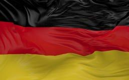 Flaggan av Tyskland som vinkar i vinden 3d, framför Arkivfoton