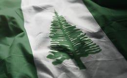 Flaggan för den Norfolk ön rufsade till tätt upp arkivfoto