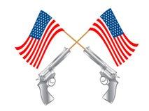 flaggan guns USA Royaltyfri Bild