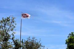 Flaggan har röka för fri zon för ord Arkivfoto