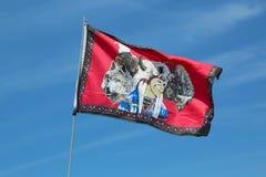 Flaggan på NYC-powen överraskar Royaltyfri Foto