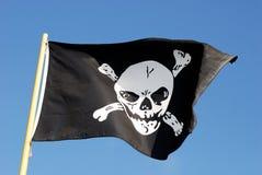 flaggan piratkopierar jag som är jolly, roger Arkivfoto
