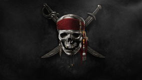flaggan piratkopierar våg stock illustrationer