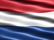 flaggaNederländerna Royaltyfri Foto