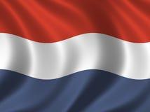 flaggaNederländerna royaltyfri illustrationer