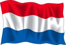 flagganetherland vektor illustrationer