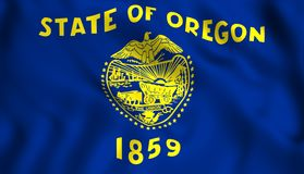 FlaggaOregon USA statligt symbol royaltyfri illustrationer