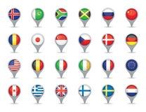 Flaggapekare royaltyfri illustrationer