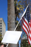 flaggaperson som protesterartecken Arkivfoton