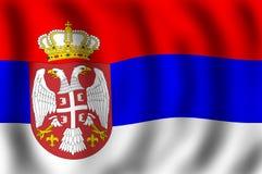 flaggarepublik serbia Arkivfoton