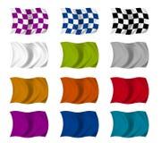 flaggaset vektor illustrationer