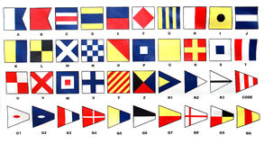 flaggasignalering Arkivbild
