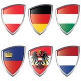 flaggasköld för 2 Central Europe Royaltyfria Bilder