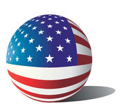 flaggasphere USA royaltyfri illustrationer