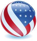 flaggaspheretwist USA Royaltyfri Fotografi