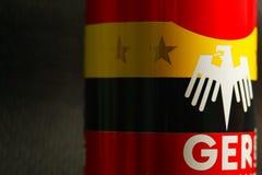 Flaggastilskärmen kan på platsen Royaltyfria Bilder