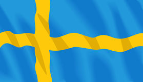 flaggasvensk Royaltyfria Foton