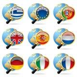 flaggasymbolsvärld stock illustrationer