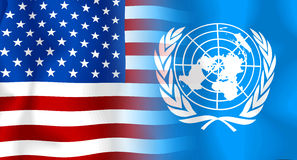 flaggaun USA Arkivbilder