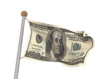Flagge 100$ lizenzfreie stockfotos