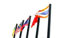 Flagge ASEAN Stockfotos