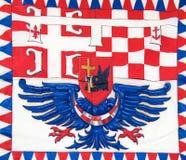 Flagge in Belgrad, Serbien Lizenzfreie Stockfotografie
