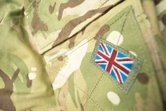 Flagge Briten Union Jack auf einer Armeeuniform Lizenzfreie Stockbilder