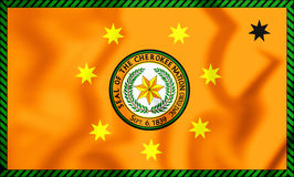 Flagge 3D der Cherokee Nation Lizenzfreie Stockfotografie