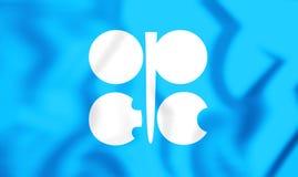 Flagge 3D der OPEC Stockfotografie