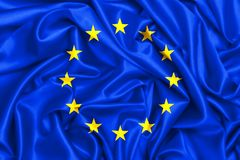 Flagge 3d des Eu--Eurpoeanverbands stock abbildung