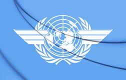 Flagge 3D des ICAO Stockfotografie