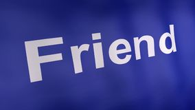Flagge 3d des Social Media-Konzeptes lizenzfreie abbildung