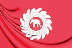 Flagge 3D des Thailands 1818 Stockbild