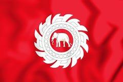 Flagge 3D des Thailands 1818 Stockfoto