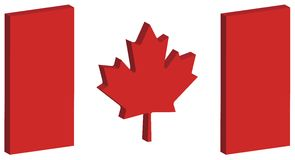 Flagge 1 3D Kanada